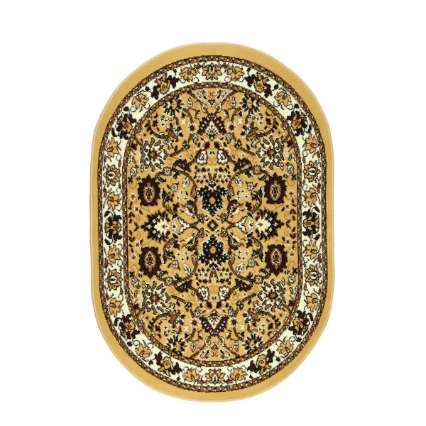Sofiteks Kusový koberec TEHERAN 117/beige ovál, 100x150 cm Sofiteks% Béžová - Vrácení do 1 roku ZDARMA vč. dopravy + možnost zaslání vzorku zdarma