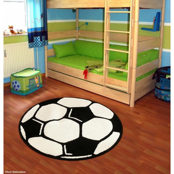 Hanse Home Collection koberce Dětský fotbalový koberec Fußball Rund na hraní, 100x100 kruh% Zelená - Vrácení do 1 roku ZDARMA vč. dopravy