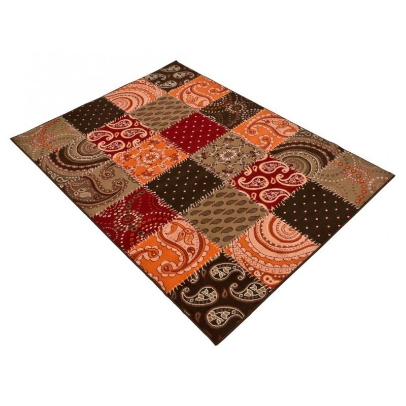 kusov koberec prime pile 101091 patchwork optik terra braun rot. Black Bedroom Furniture Sets. Home Design Ideas