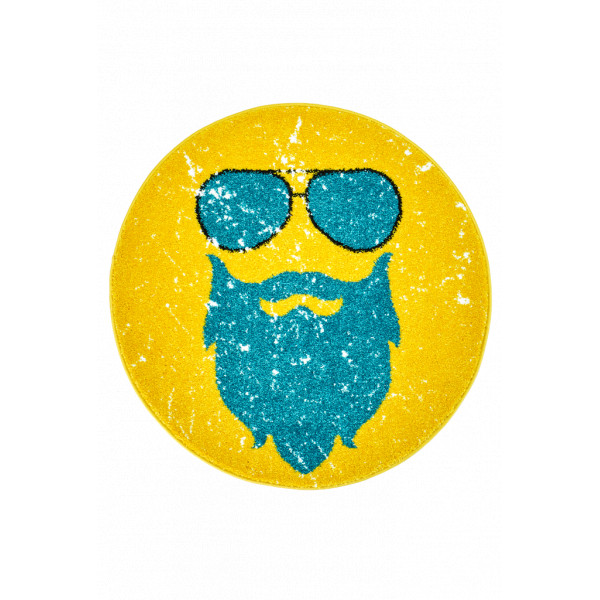Obsession koberce Kusový koberec Hipster 612 GINGER ROUND, 80x80 cm% Žlutá - Vrácení do 1 roku ZDARMA vč. dopravy
