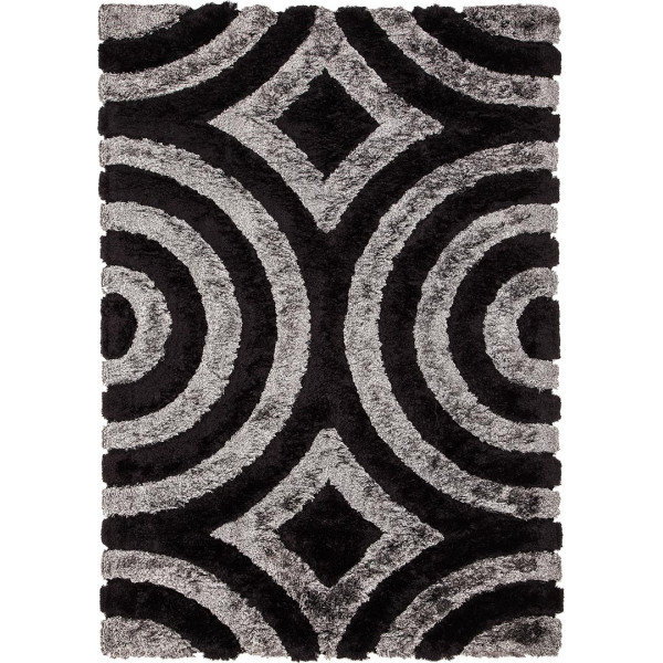 Tulipo Kusový koberec Impulse 5676/7184, 80x150 cm Tulipo% Šedá, Černá - Vrácení do 1 roku ZDARMA vč. dopravy
