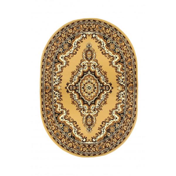 Sofiteks Kusový koberec TEHERAN 102/beige ovál, 100x150 cm Sofiteks% Béžová - Vrácení do 1 roku ZDARMA vč. dopravy + možnost zaslání vzorku zdarma