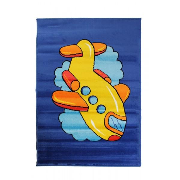 Oriental Weavers Dětský kusový koberec Kids Planet 1/D85L , 100x150 cm% Modrá - Vrácení do 1 roku ZDARMA vč. dopravy