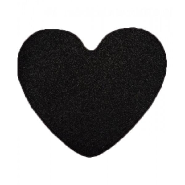 Vopi Kusový koberec Eton Srdce černý, 100x120 cm - srdce% Černá - Vrácení do 1 roku ZDARMA vč. dopravy + možnost zaslání vzorku zdarma