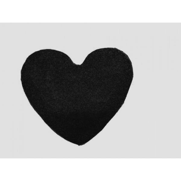 Vopi Kusový koberec Elite Shaggy antra srdce, 120x120 cm kruh% Černá - Vrácení do 1 roku ZDARMA vč. dopravy