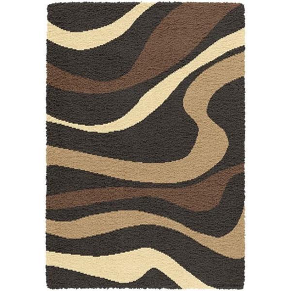 Vopi Kusový koberec Expo Shaggy 5668-436, 80x150 cm% Hnědá - Vrácení do 1 roku ZDARMA vč. dopravy