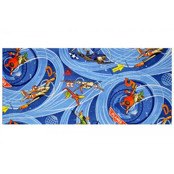 Vopi Kusový koberec Planes modrý, 140x200 cm% Modrá - Vrácení do 1 roku ZDARMA vč. dopravy