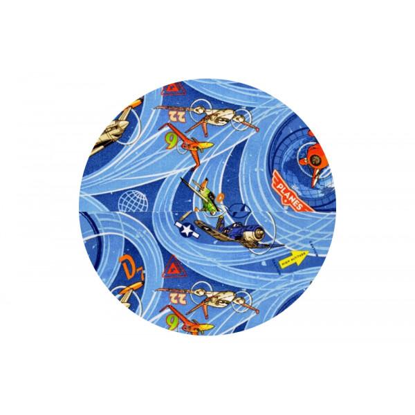 Vopi Kusový koberec Planes modrý kulatý, 200x200 cm kruh% Modrá - Vrácení do 1 roku ZDARMA vč. dopravy