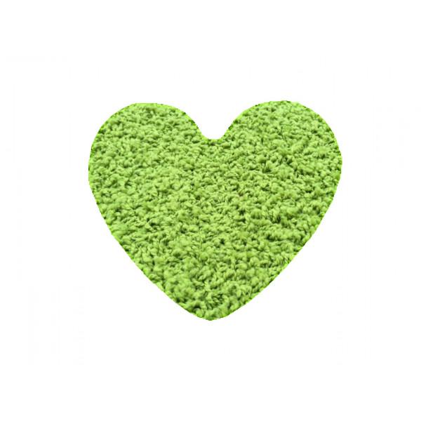Vopi koberce Kusový koberec Color shaggy zelený srdce, 120x120 cm kruh% Zelená - Vrácení do 1 roku ZDARMA vč. dopravy + možnost zaslání vzorku zdarma