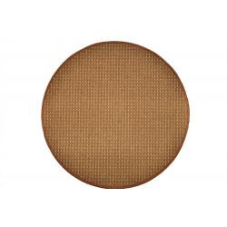 Kusový koberec Birmingham hnědý kulatý