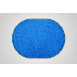 Kusový modrý koberec Eton ovál