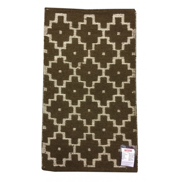 Ručně tkaný pravý indický koberec Woolen Dhurry Autumn , 60x90 Sleva 38%% Hnědá - Vrácení do 1 roku ZDARMA vč. dopravy