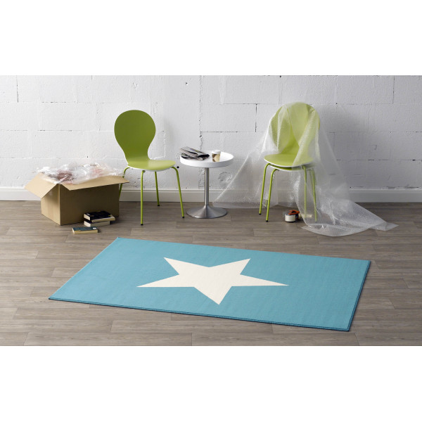 Hanse Home Collection koberce Kusový koberec CITY MIX 102039 140x200 cmcm, 140x200 cm% Bílá, Modrá - Vrácení do 1 roku ZDARMA vč. dopravy