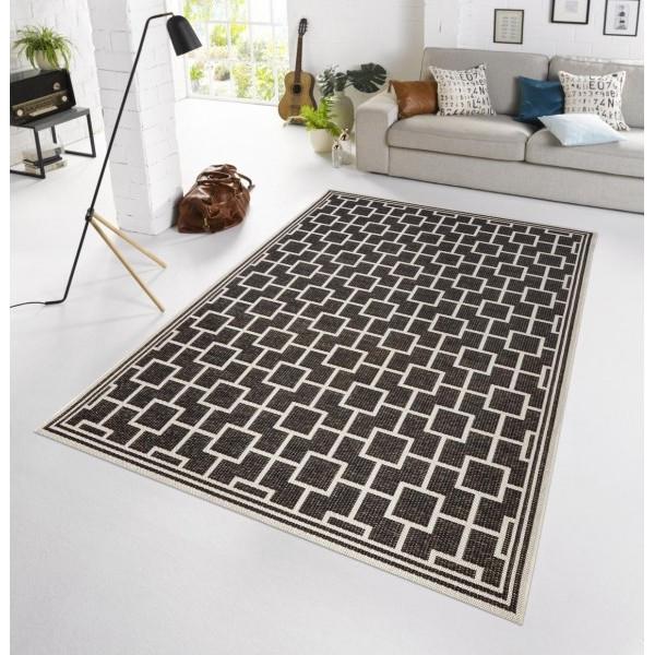 Bougari - Hanse Home koberce Kusový koberec BOTANY Bay Schwarz - venkovní (outdoor), 115x165% Černá - Vrácení do 1 roku ZDARMA vč. dopravy