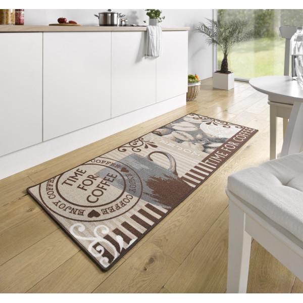 Hanse Home Collection koberce Běhoun 67x180 cm cm LOOP Time For Coffee Braun, 67x180 cm Hanse Home Collection koberce% Hnědá - Vrácení do 1 roku ZDARMA vč. dopravy