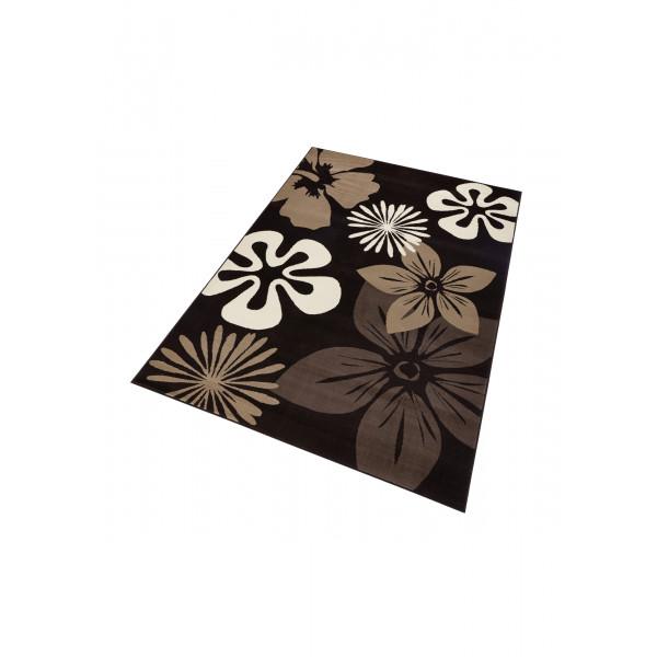 Hanse Home Collection koberce Kusový koberec GLORIA Flora Braun, 80x150 cm Hanse Home Collection koberce% Hnědá - Vrácení do 1 roku ZDARMA vč. dopravy