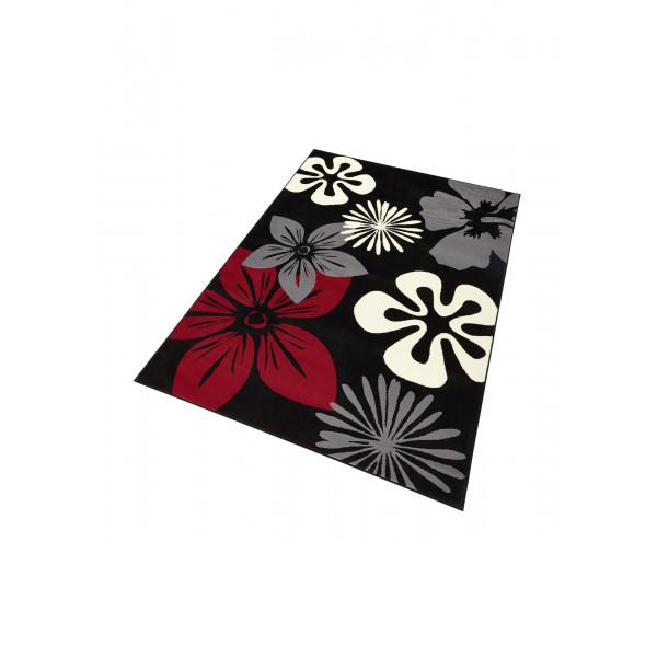 Hanse Home Collection koberce Kusový koberec GLORIA Flora Schwarz Rot, 80x150 cm Hanse Home Collection koberce% Černá - Vrácení do 1 roku ZDARMA vč. dopravy