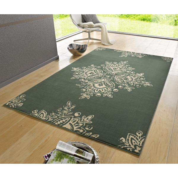Hanse Home Collection koberce Kusový koberec GLORIA Blossom Grün Creme, 80x150 cm Hanse Home Collection koberce% Zelená - Vrácení do 1 roku ZDARMA vč. dopravy