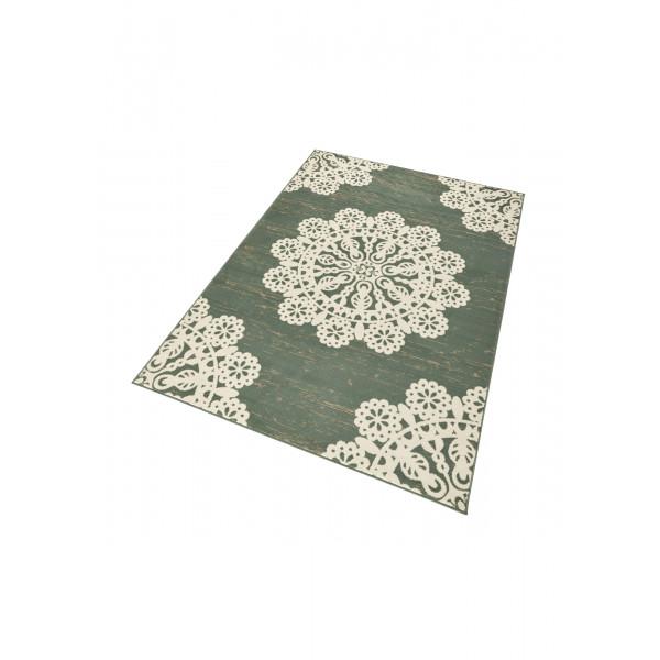 Hanse Home Collection koberce Kusový koberec GLORIA Lace Grün Creme, 80x150 cm Hanse Home Collection koberce% Zelená - Vrácení do 1 roku ZDARMA vč. dopravy