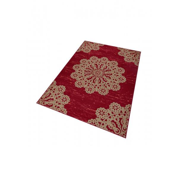 Hanse Home Collection koberce Kusový koberec GLORIA Lace Rot Braun, 160x230 cm Hanse Home Collection koberce% Červená - Vrácení do 1 roku ZDARMA vč. dopravy