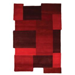 Ručně všívaný kusový koberec Abstract Collage Red