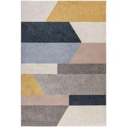 Kusový koberec Cadiz Barrio Block Grey/Ochre