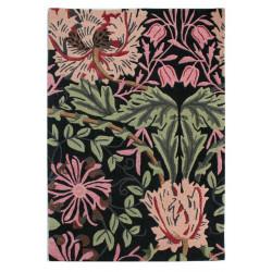 Rušně všívaný vlněný kusový koberec V&A Honeysuckle Black/Multi
