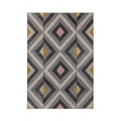 Kusový koberec Hand Carved Paloma Grey/Ochre/Pink
