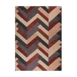 Rušně všívaný vlněný kusový koberec V&A Salon Red/Grey