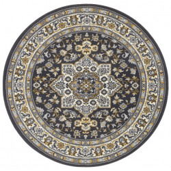 Kruhový koberec Mirkan 104106 Dark-grey
