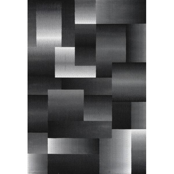 Ayyildiz koberce Kusový koberec Miami 6560 Black, kusových koberců 80x150 cm% Šedá, Černá - Vrácení do 1 roku ZDARMA vč. dopravy