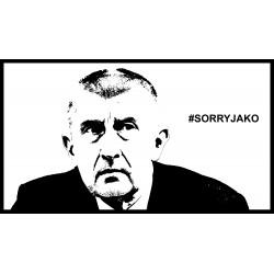 "Předložka ""Sorry jako"" 40x60 cm"