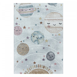 Dětský kusový koberec Funny 2105 white