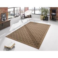 Kusový koberec GLORIA Tile Braun