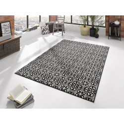 Kusový koberec GLORIA Pattern Schwarz Creme