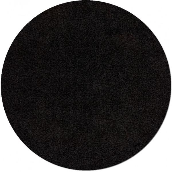 Lalee koberce Kusový koberec Relax REL 150 black kruh, 67x67 kruh% Černá - Vrácení do 1 roku ZDARMA vč. dopravy
