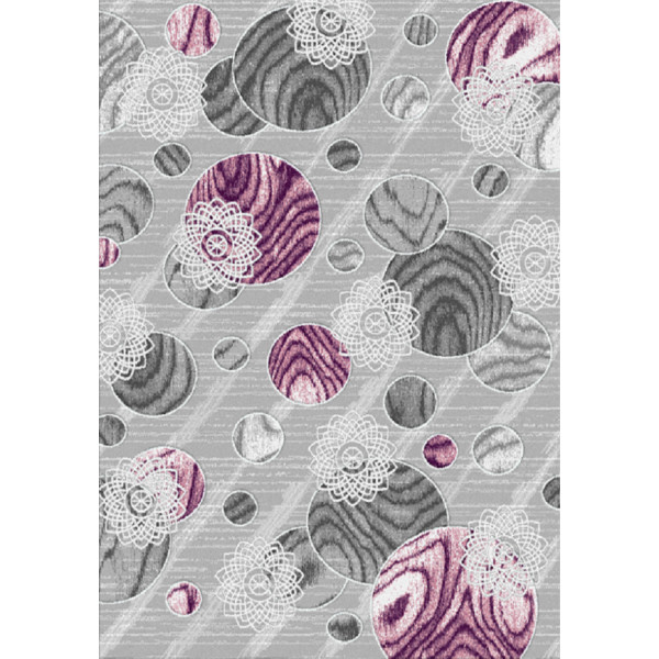 Kusový koberec Kirman 8520 lila