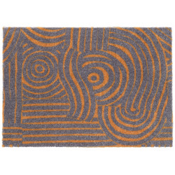 AKCE: 50x70 cm Protiskluzová rohožka Viva 104029 Grey/Gold z kolekce Elle