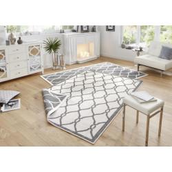 AKCE: 80x150 cm Kusový koberec Twin-Wendeteppiche 103121 grau creme