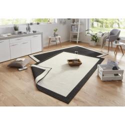 AKCE: 120x170 cm Kusový koberec Twin-Wendeteppiche 103105 creme schwarz