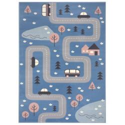 Dětský koberec Adventures 104536 Sky-blue