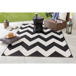 AKCE: 120x170 cm Kusový koberec Meadow 102738 schwarz/creme
