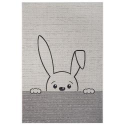 AKCE: 120x170 cm Dětský kusový koberec Flatweave Kids Rugs 104879 Cream/Black