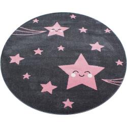 AKCE: 160x160 (průměr) kruh cm Dětský kusový koberec Kids 610 pink kruh