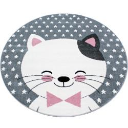 AKCE: 160x160 (průměr) kruh cm Dětský kusový koberec Kids 550 pink kruh