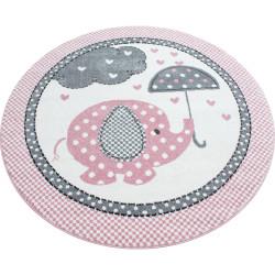 AKCE: 160x160 (průměr) kruh cm Dětský kusový koberec Kids 570 pink kruh