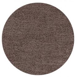 AKCE: 120x120 (průměr) kruh cm Kusový koberec Life Shaggy 1500 mocca kruh