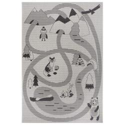 Dětský kusový koberec Flatweave Kids Rugs 104880 Cream/Black