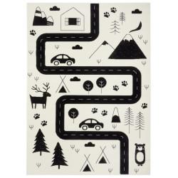 Dětský koberec Adventures 104564 Cream/black