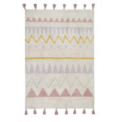 AKCE: 140x200 cm Bio koberec kusový, ručně tkaný Azteca Natural-Vintage Nude